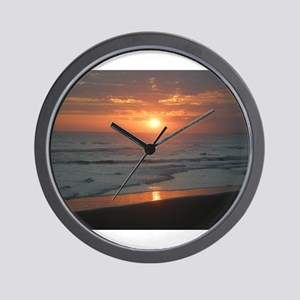 Tropical Bali Sunset Wall Clock