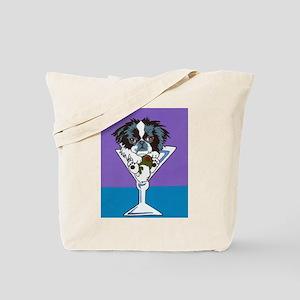 Japanese Chin Martini Tote Bag