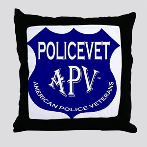 Policevets Shield Throw Pillow