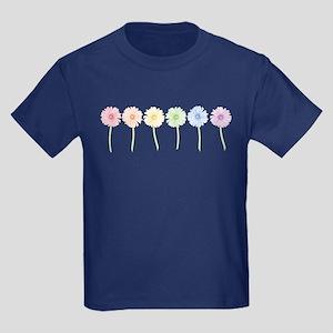 Rainbow Daisies Kids Dark T-Shirt