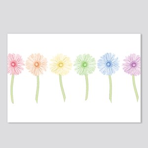 Rainbow Daisies Postcards (Package of 8)