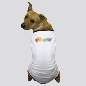 Watercolor Rainbow Hearts Dog T-Shirt