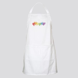 Watercolor Rainbow Hearts BBQ Apron