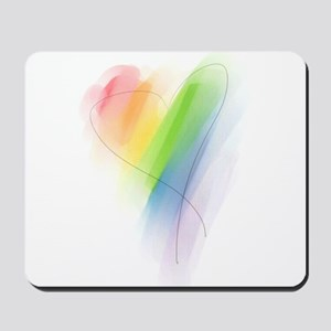 Rainbow Heart Mousepad