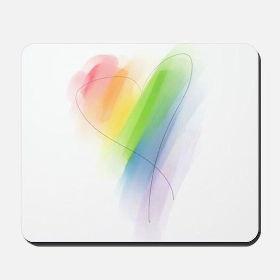 Rainbow Heart Mousepad