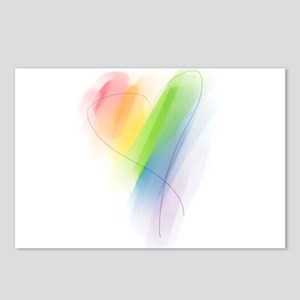 Rainbow Heart Postcards (Package of 8)