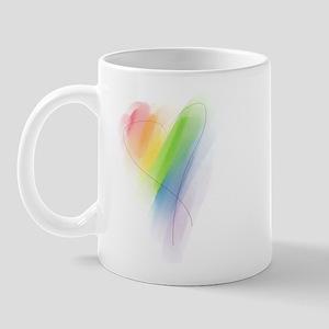 Rainbow Heart Mug