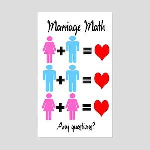 Marriage Math Rectangle Sticker