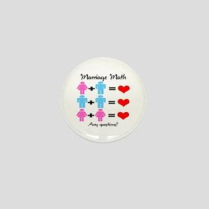 Marriage Math Mini Button