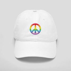 Gay Pride Rainbow Peace Symbol Cap