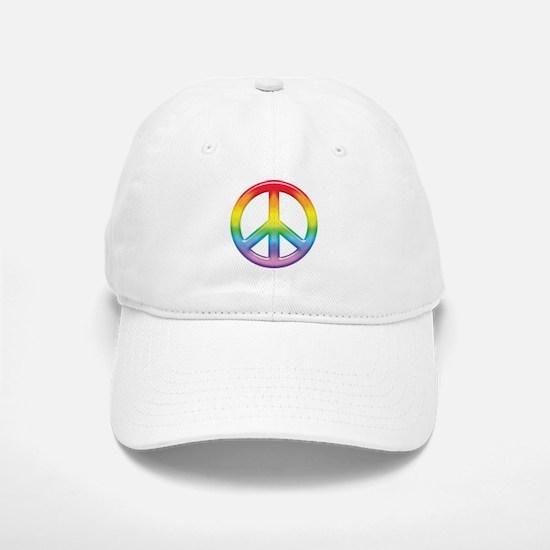 Gay Pride Rainbow Peace Symbol Baseball Baseball Cap