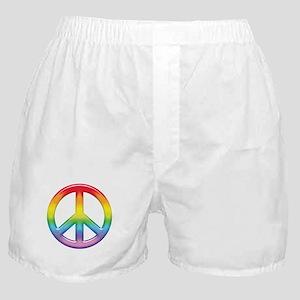 Gay Pride Rainbow Peace Symbol Boxer Shorts
