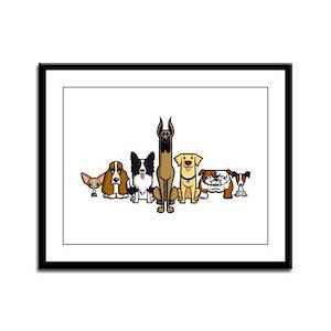 Dogversity Framed Panel Print