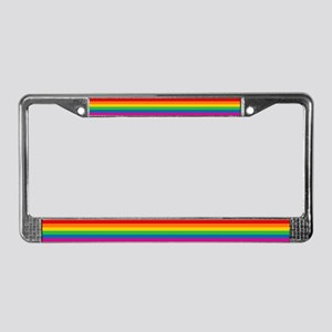 Gay Pride Rainbow Flag License Plate Frame
