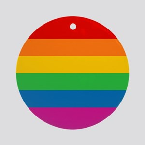 Gay Pride Rainbow Flag Ornament (Round)