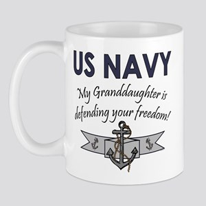 NAVY Granddaughter Defending Mug