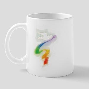 Dove with Rainbow Ribbon Mug