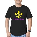 Mardi Gras Fleur De Lis Men's Fitted T-Shirt (dark