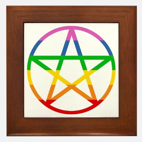 Rainbow Pentacle Framed Tile