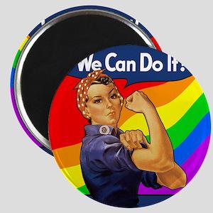 Rainbow Rosie Magnet