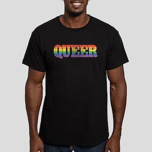Retro Queer Men's Fitted T-Shirt (dark)