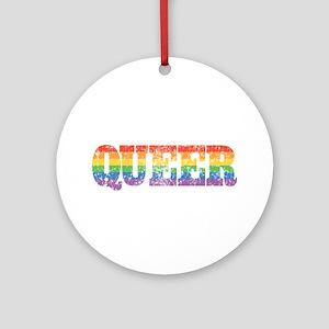 Retro Queer Ornament (Round)