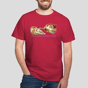 Creation of Adam And Steve Dark T-Shirt