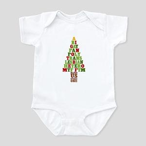 Diversity Christmas Tree Infant Bodysuit