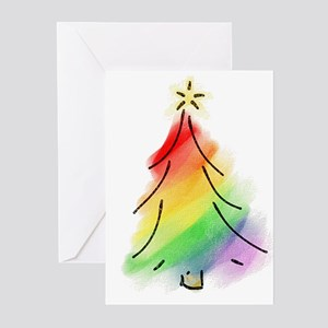 Rainbow Holiday Tree Greeting Cards (Pk of 10)
