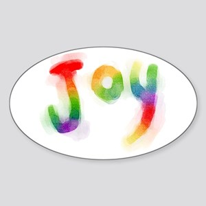 Rainbow Joy Sticker (Oval)