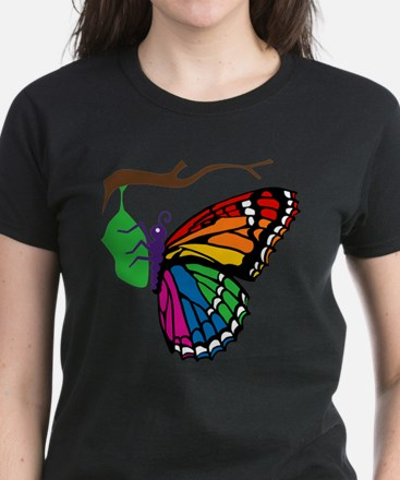 Rainbow Butterfly Emerging From Chrysalis Tee