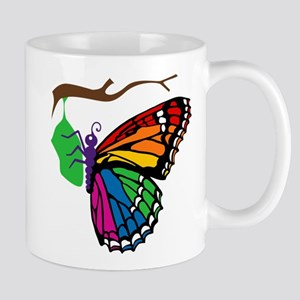 Rainbow Butterfly Emerging From Chrysalis Mug