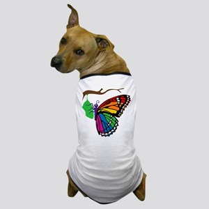 Rainbow Butterfly Emerging From Chrysalis Dog T-Sh