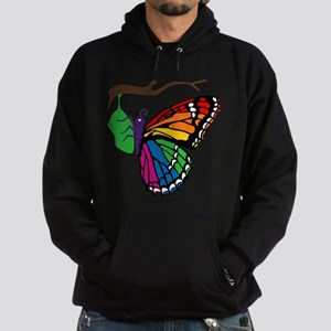 Rainbow Butterfly Emerging From Chrysalis Hoodie (
