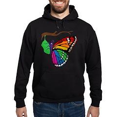 Rainbow Butterfly Emerging From Chrysalis Hoodie