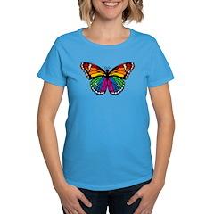 Rainbow Butterfly Women's Dark T-Shirt