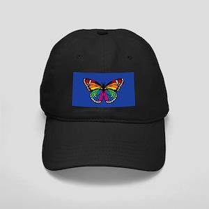 Rainbow Butterfly Black Cap