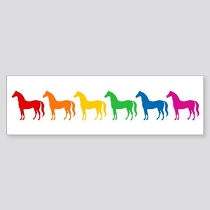 Rainbow Colored Horses Sticker (Bumper)