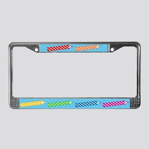 Rainbow Birthday Candles License Plate Frame