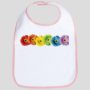 Rainbow Daisies Bib