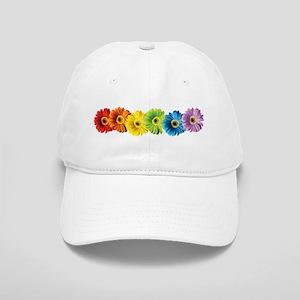 Rainbow Daisies Cap