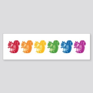 Rainbow Squirrels Sticker (Bumper)