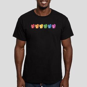 Rainbow Squirrels Men's Fitted T-Shirt (dark)