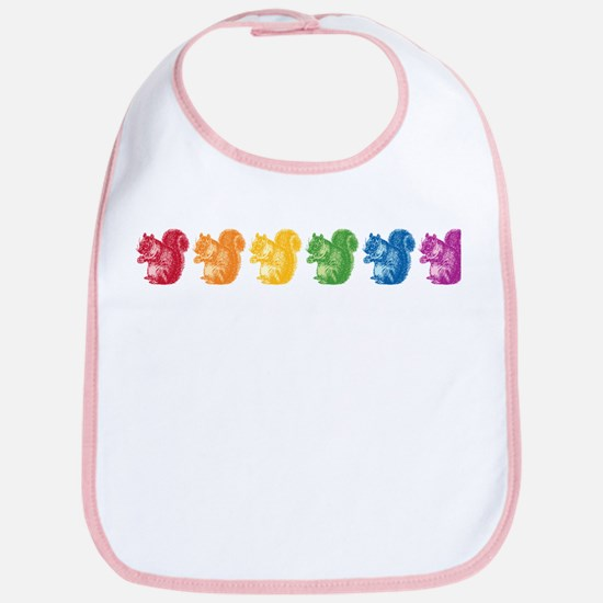 Rainbow Squirrels Bib
