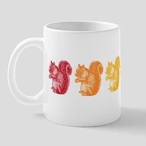 Rainbow Squirrels Mug