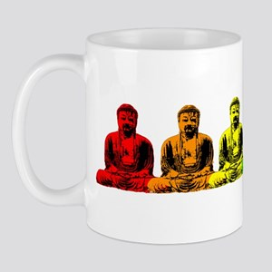 Row of Rainbow Buddha Statues Mug