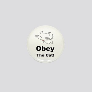 Obey the Cat! Mini Button