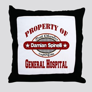 Property of Damian Spinelli Throw Pillow