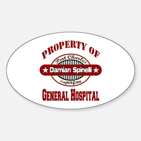 Property of Damian Spinelli Sticker (Oval)