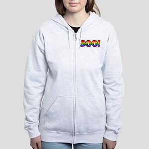 Halloween Rainbow BOO Women's Zip Hoodie